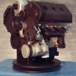 Car engine made from wood