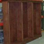 A flawless finish for a custom bookcase created by BK Woodworking of Ann Arbor, Michigan