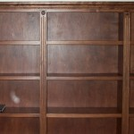The custom bookcase is ready.